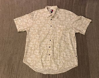 Vintage 90s Hawaiian Tommy Hilfiger Button Up