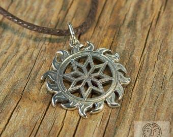 Sol colgante, Solar, Nordic estrella, Eslava, Viking, la joyería, joyería escandinava, colgante pagano, protección amuleto, SCA