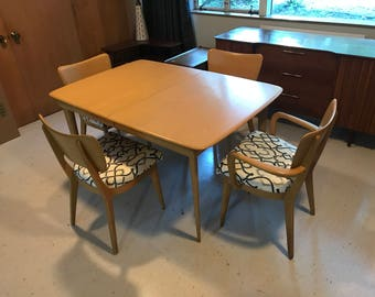 Heywood Wakefield Dining Table and Chair Set