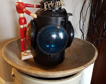 Fabulous Vintage C.N.R Switch Railway Lamp By Hiram L. Piper, Montreal, Quebec, Canada 1940-50's