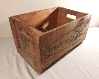 1960s 7-Up Large Wooden Crate