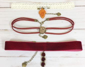 Autumn Choker Necklace Set