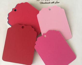 Tags / Favor Tags / Candy Bar Tags / Price Tags / Gift tags / Decorative tags / Wedding Tags / Labels / Red tags/ Pink tags / Light pink tag