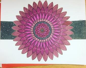 Purple Mandala Galaxy
