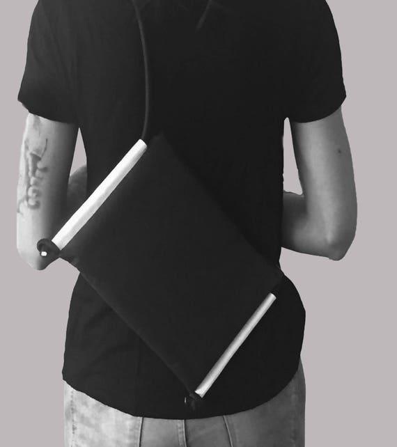 LARGO 2.0 black Handbag white from JACRON evenigbag clutch