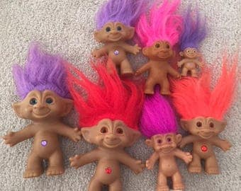 Vintage 1990 Treasure Trolls Lot