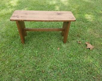 Farmhouse Oak Bench