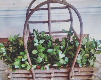 Boxwood Terra cotta pot basket~fixer upper style