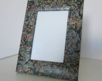 Frame 16 x 21 wooden standing or hanging, decorated with paper glaze
