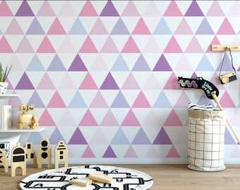 Little Pink Triangle Peel and Stick Wallpaper