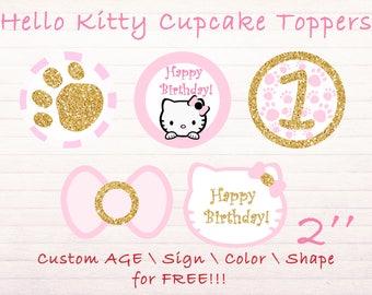 Handmade hello kitty cupcake Etsy