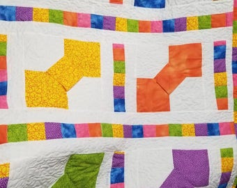 Bow Tie baby quilt/ wall hanging