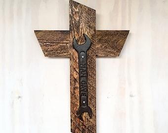 Man Cave Cross Decor