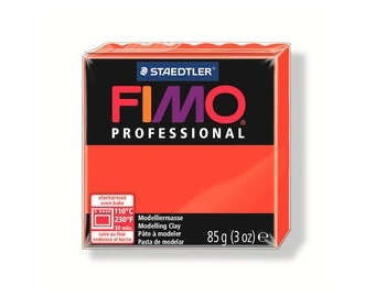 Polymer clay Fimo Pro 85 g red pure No. 200