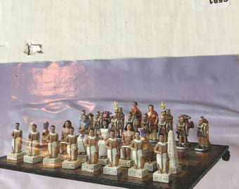 Romans vs Egyptains Chess Set
