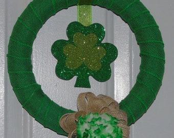 Small St. Patrick's Day Shamrock Wreath