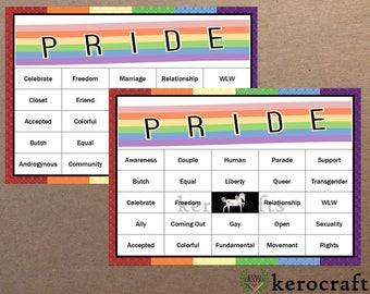 PRIDE BINGO - 40 Cards