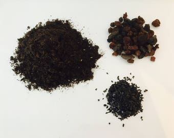 Terrarium kit - substrate - pozzolana - activated charcoal