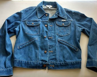 Vintage 70s 80s Wrangler no fault denim jacket