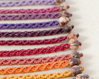 Macrame bracelet, handmade jewelry, choose your color