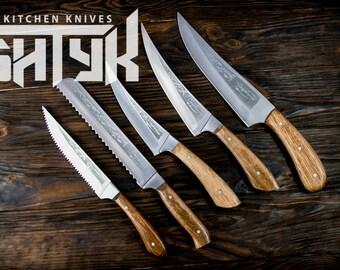 Utility Knife Set, Chef Knives Set, Professional Kitchen Knife Set, Meat Knife, Butchers Cutting Kitchen Set, Vegetable Cutting knife