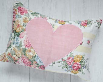 Country cottage style cushion | Patchwork floral pillow | English country cottage style floral cushion | Country style scatter cushion  SALE