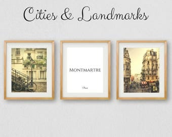 Montmartre Wall Art, Paris Prints, Gallery Wall Prints, Montmartre Paris, Paris Art, Paris Photography, Instant Download, Paris Printable