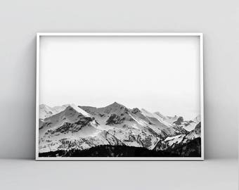 Wall Art, Mountain Print, Printable Art, Nature Photography, Nature Print, Wanderlust Print, Mountain Wall Art, Photography Print, Gift Idea