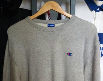 RARE! Champion Embroidery Small Logo Sweatshirt
