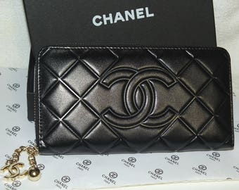 CHANEL Black Wallet Clutch VIP Gift