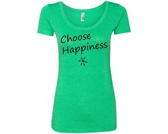 Choose Happiness Women's Travel Scoop Neck Tee