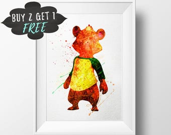 Goldie And Bear Party, Goldie Birthday Party Wall Art Print, Disney, Goldilocks, Disney Jr, Bear Party, Goldie Bear Birthday, Goldie Party