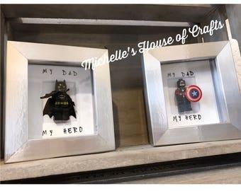 Lego Super Hero Fathers Day Mini Frame
