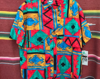 SOLD!!!!! New with Tags Aztec Rafter Western Shirt, Women's XL