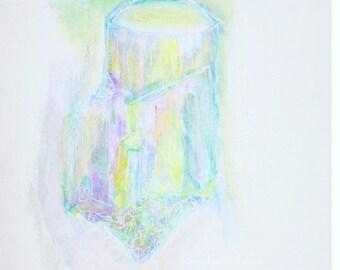 Pastel shimmer crystal