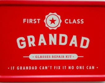 Grandad glasses repair kit Father's day present First class Granddad