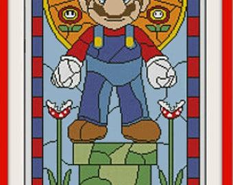 Retro Super Mario Cross Stitch Pattern***LOOK***