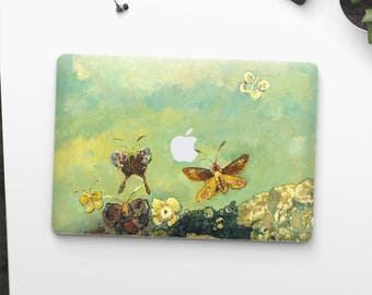 "Odilon Redon, ""Butterflies"". Macbook Pro 15 cover, Macbook Pro 13 cover, Macbook 12 cover. Macbook Pro cover. Macbook Air cover."