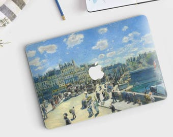 "Auguste Renoir, ""Pont Neuf, Paris"". Macbook Pro 15 skin, Macbook Pro 13 skin, Macbook 12 skin. Macbook Pro skin. Macbook Air skin."