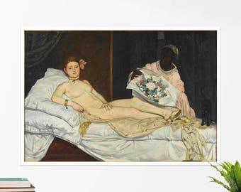 "Edouard Manet, ""Olympia"". Art poster, art print, rolled canvas, art canvas, wall art, wall decor"