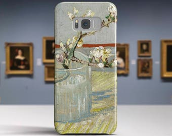 """Vincent van Gogh, """"Sprig of Flowering Almond"""".Samsung Galaxy S7 Case LG G6 case Huawei P10 Case Galaxy J5 2017 Case and more."""
