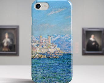 "Claude Monet, ""Antibes, Afternoon Effect"". iPhone 8 Case Art iPhone 7 Case iPhone 6 Plus Case and more iPhone 8 TOUGH cases Art iphone cases"
