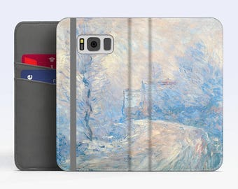 "Claude Monet, ""The Road to Giverny in Winter"" Samsung Galaxy S8 Wallet case Samsung S7 wallet case Samsung S6 wallet case iPhone Wallet case"