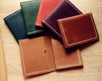 Leather wallet, minimalist wallet, men purse, small wallet, handmade, leather wallet