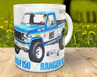Ford150 xlt Coffee Mug with optional Keychain, gift for RC lover, RC Car Coffee Mug, Gift for Him, Radio Controlled Car Mug, RC car gift