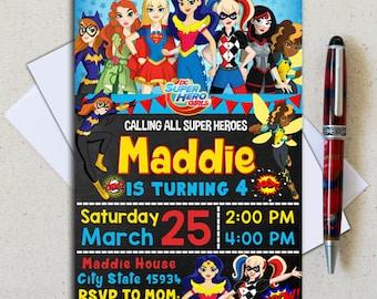 Superhero Girl Invitation/ Superhero Girl Birthday/ Superhero Girl Party/ Superhero Girl Birthday Invitation/ Superhero Girl Printable
