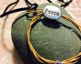 Upcycled Guitar String Necklace