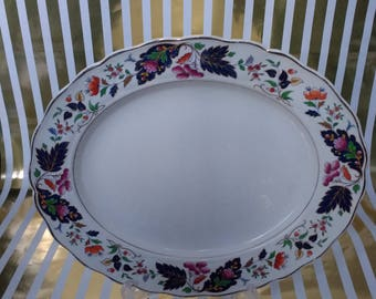 Gorgeous Large Oval Marlborough Grindley Platter Serving Dish/Meat Platter