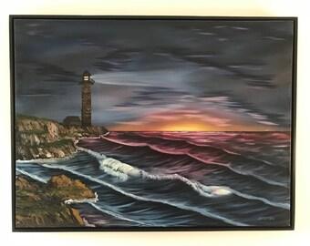 Wood Framed - Seascape Oil Painting