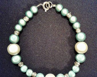 Teal And White Neon Bracelet #18